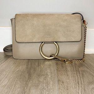 Chloé Faye small shoulder bag in Motty Grey